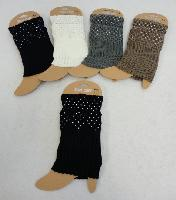 Knitted Boot Cuffs [Rhinestones]